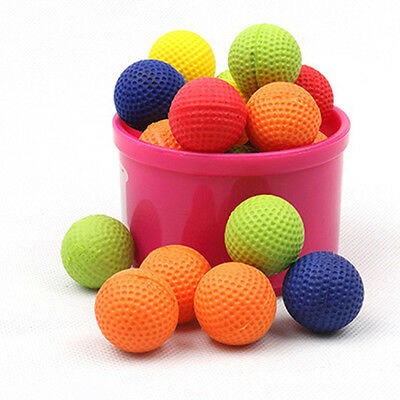 50Pcs Yellow Round Compatible Toy Bullet Balls For Nerf Rival Zeus Apollo Refill