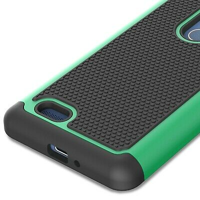 For ZTE ZMax Pro Case - Teal / Black Rugged Skin Phone Cover