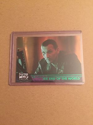 Topps Doctor Who Timeless Green Parallel Card: The End of the World