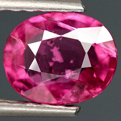 1.72Ct.unheated! Oval Facet Pinkish Red Natural Ruby Mozambique