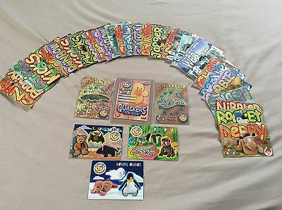 Benie Babies Cards Lot Of 40 (Stickers, Platinum, Retired And More) Rare