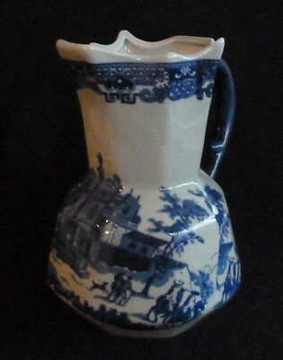 Lovely  Ironstone 18 cm 1 Litre Octagonal Jug Victoria Ware Flow Blue Style