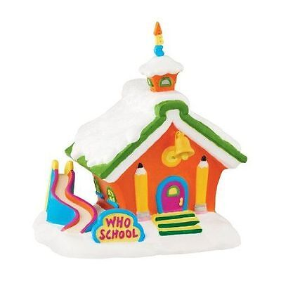 New Department 56 Grinch Village Who School Building