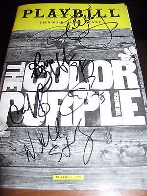 The Color Purple Broadway Autographed Playbill LAST CHANCE !!!