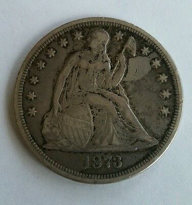 ESTATE FIND 1873 Seated Liberty Dollar!!