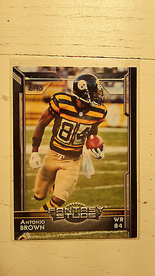 NFL Trading Card Antonio Brown Pittsburgh Steelers Topps 2015 Fantasy Studs
