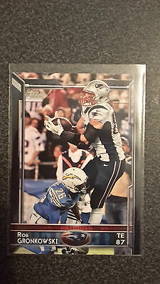 NFL Trading Card Rob Gronkowski New England Patriots Topps 2015