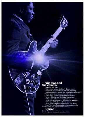 B.B. King  **LARGE POSTER**  Blues Guitar Master GIBSON Guitars Lucille bb