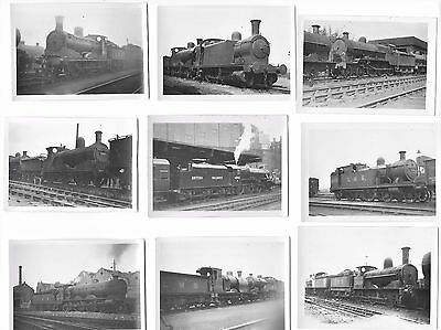 """74 LMS railway locomotive contact prints size 3.5"""" x 2.5"""" - all scanned"""