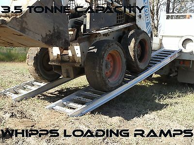 3.5 Tonne Capacity Machinery Loading Ramps 3.6 metres x 500mm track width