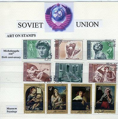 Russia Demonstration Historical stamps. Comes with demo sheets.