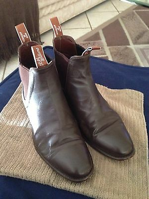 R.M.Williams Adelaide Boots In Chestnut Kangaroo Leather Size 8E