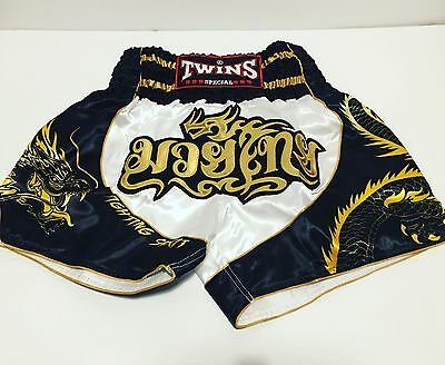 Twins Special 2017 TBS-DRAGON-3 Muay Thai Shorts UK Based Seller