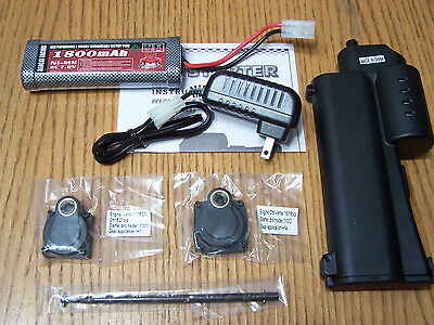 70111E Redcat Racing Electric Starter Kit 2 Back Plates Wand Gun Charger Battery