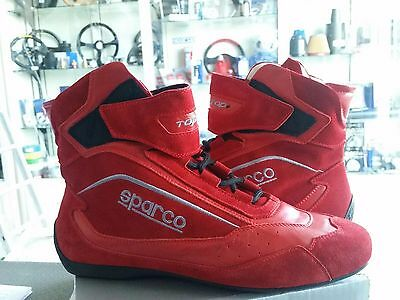 Sparco Racing Shoes Boots Fia Fireproof Schuhe Top Size 42 Red Fia 8856-2000