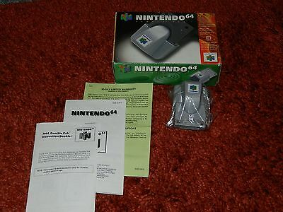 Nintendo 64 boxed Rumble pack with manuals