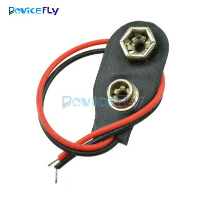 New 10PCS PP3 MN1604 9V 9 volt Battery Holder Clip Snap On Connector Cable Lead