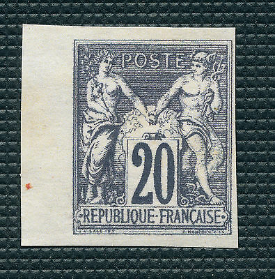FRANCE N° 100 Type Sage 20c bleu  non émis ND