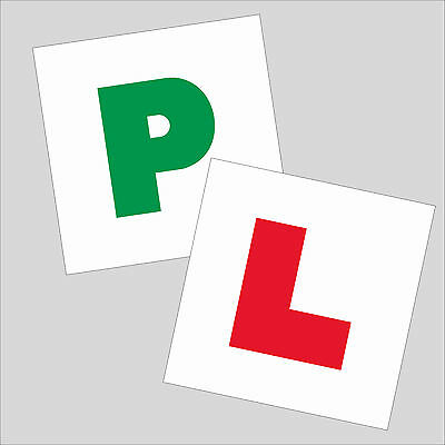 LEARNER L PLATE AND PROVISIONAL P PLATE NEW DRIVER STICKERS / car L & P stickers