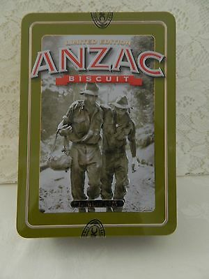 """ANZAC """" TARAKAN""""  2013  BISCUIT TIN with PAMPLET"""