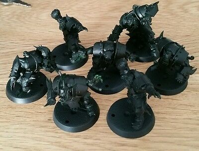 Blood Bowl Orc Team x7 - 2016 edition Games Workshop assembled undercoated