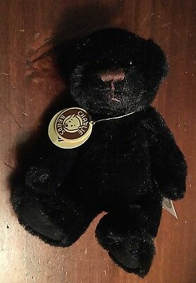 "New Charlie Bears Columbus Bear Travel Buddy 5"" Bnwt Retired Black Fur"