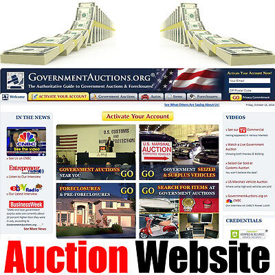 Auction Website - Foreclosures - Free Hosting For Life - Home Online Business
