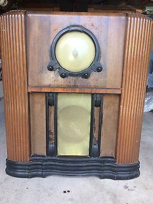 Antique AIRZONE Console Vintage Valve Tube Radio