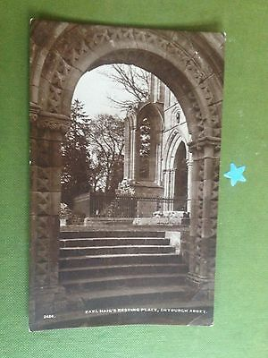 Scotland Earl Haig's Resting Place Dryburgh Abbey Real Photograph Postcard 1929