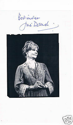 Judi Dench British actress Hand signed  Magazine page 10 x 7 Laid to card