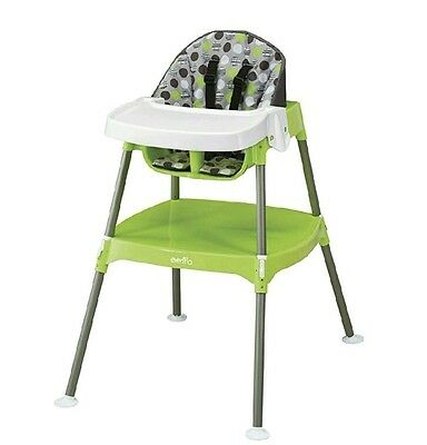 Convertible Portable High Booster Feeding Chair Infant Toddler Dottie Lime NEW