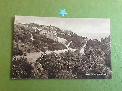 The Chine Boscombe Vintage Postcard