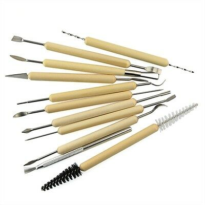 Clay Sculpture Tool Pottery  Clay Sculpting  Wooden Handle Polymer Clay Tools