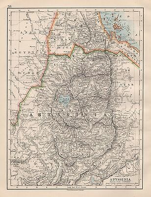 1920 Vintage Map-Abyssinia