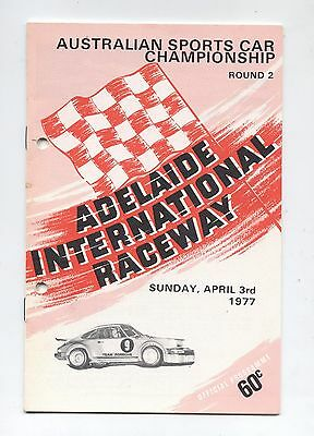 1977 Adelaide Programme Touring Racing Sports Ford Holden Program Historic