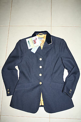 NWT Dublin Ashby Childs size 12/14 Navy Riding Jacket RRP $130
