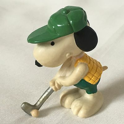 Vintage Retro Copyright 1958 Plastic Rubberoid Snoopy Golfer Golfing Figurine