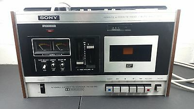Vintage Sony stereo cassette-corder TC-131SD nice prop working