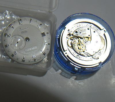 Zenith Dual Time Watch for Parts, Authentic  NOS/Brand New Case, Bracelet, Dial