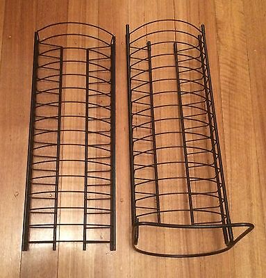 Black Metal Tower DVD Stands X 2