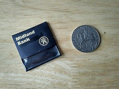 1977 Qe11 Silver Jubilee Crown Coin In Midland Bank Pouch [188]