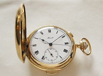 Swiss Solid Gold 18K gold pocket watch minute repeater Chronograph Rocail