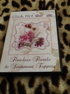 My Craft Studio Flawless Florals & Sentiments Toppers Cd Rom