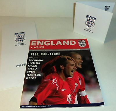 England v Wales - World Cup Qualifier - 9.10.2004 - Excellent Programme + Extras