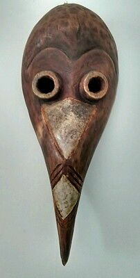 West African Traditional hand carved bird Mask African art