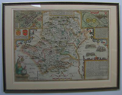 Hertfordshire: antique map by John Speed, 1627