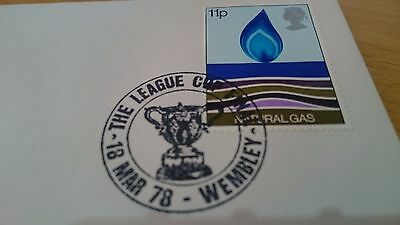 Special Postmark League Cup Final Wembley March 1978