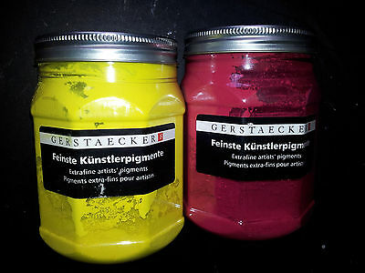 Artists Quality powder Pigment Cadmium Red and cadmium Yellow 500 g in total