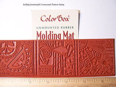 PMC Polymer Clay Molding Mat Texture Rubber Stamp Asian