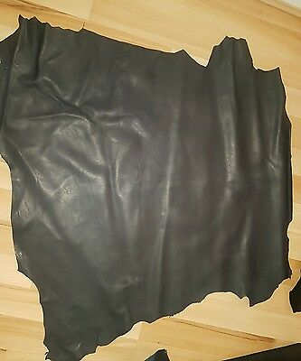 Leather Hide Skin, Black,High Quality Nappa Leather Grade AA, 5-6sf 100% Genuine